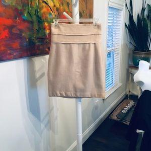 Robert Rodriguez beige wool skirt